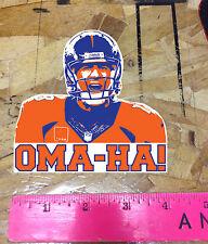 Peyton Manning Denver Broncos Championship Orange OMAHA sticker decals