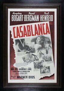 CASABLANCA ✯ CineMasterpieces 1942 VINTAGE ORIGINAL ONE SHEET MOVIE POSTER