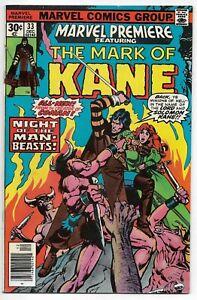 Marvel Premiere Featuring The Mark Of Kane #33 Thomas Chaykin VFN 1976