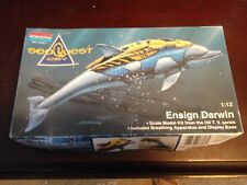 Monogram Factory Sealed Sea Quest Ensign Darwin 1:12 Model Dolphin Kit #3603