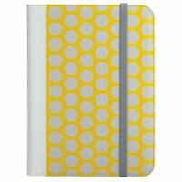 "Radioshack Universal Tablet Folio Case Cover 9""-10.1"" Yellow Polka Dot"