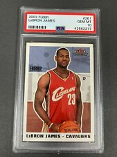 2003-04 Fleer #261 Lebron James RC Rookie PSA 10 Gem Mint JS