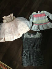 Cat & Jack Lot 3 Girls Clothes Dress & Sweaters Excellent Condition Size 4T 4/5