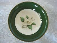 Vintage HOMER LAUGHLIN NAUTILUS LIFETIME CHINA Jade Rose Green/Magnolia Bowl-USA