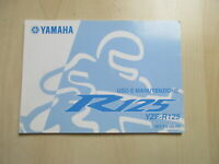 Yamaha Yzf-R 125 Manual Log Book Manutenzione 5DZ-F8199-H0