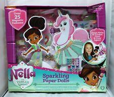 Nickelodeon Nella The Princess Knight Sparkling Paper Dolls, See Description!