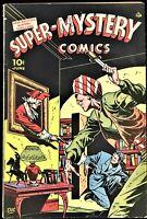 SUPER-MYSTERY COMICS #6 VOLUME 5 1946 ACE COMICS GOLDEN AGE CRIME