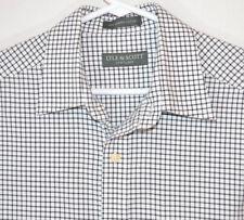 Lyle & Scott Scotland Shirt White/Black Check Combed Cotton Button L/S Men's M