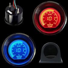 "Car HS Blue&Red  2"" 52MM Digital LED EVO Water Temperature Gauge with Pod Black"