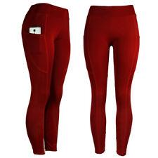 Womens Fitness Yoga Leggings Pockets Running Gym Sports High Waist Jogging Pants