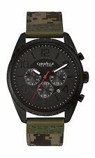 Caravelle New York Men's 45B123 Black Watch Camo Canvas Band