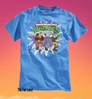 New Nickelodeon Teenage Mutant Ninja Turtles & Villians  Mens Vintage T-shirt