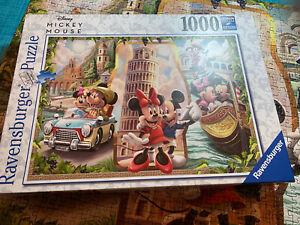 RAVENSBURGER PUZZLE 1000 PCS. DISNEY VACATION MICKEY & MINNIE Complete!!!!