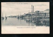 ARGENTINA Embarcadero de la Refineria Refinery landing stage c1902 u/b PPC