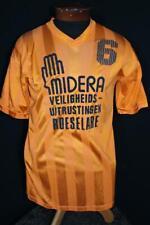 Vintage 600mS Brillante Naranja Poliéster Euro Fútbol Camisa Talla Med