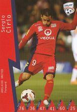 SERGIO CIRIO ADELAIDE UNITED A-LEAGUE 2014/2015 TAPNPLAY SOCCER CARD