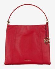 Michael Kors Lex Large Pebbled Leather Hobo Crossbody Bag, Bright Red