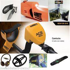 Garrett Ace 400 Metal Detector & At Pinpointer, Detector Carry Bag, Edge Digger!
