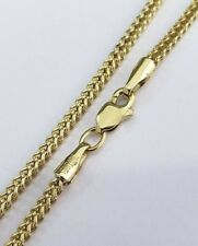 10K Yellow Gold Solid Franco Box Chain Closed 2mm Necklace 20 Inches Lobster Lok