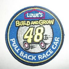 Lowe's Build and Grow #48 Pull Back Race Car Iron-On Patch Only
