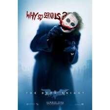 JOKER BATMAN WHY SO SERIOUS HEATH LEDGER DARK KNIGHT 24x36 poster COMIC MOVIE!!!