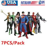 DC Comic Justice League Superman Wonder Woman Batman Action Figure Toy Set of 7