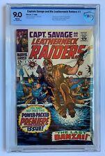 CAPTAIN SAVAGE & HIS LEATHERNECK RAIDERS #1, CBCS 9.0 not CGC