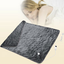 Electric Heated Over Throw Blanket Soft Fleece w/ Monitor Warm Mattress Washable