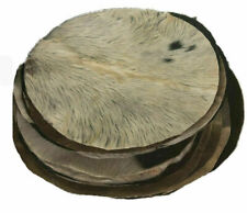 More details for goat skin hair djembe drum head irish bodhran skins 22