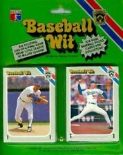 1989 Baseball Wit - Complete Set of 108 - MINT (Ruth, Gehrig, Ryan, Mantle.....)