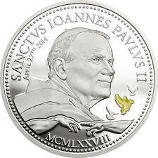 Canonization of John Paul II ~Silver Coin 2$ Cook Island 2014 with COA+ Box