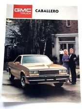 1987 GMC Caballero PIckup Original Car Sales Brochure Folder - El Camino like