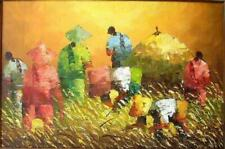 Harvest at Dusk by Eleazar Art Philippines Oil Painting