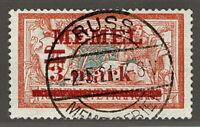 MEMEL 29 ° RUSS mit Befund = MEMEL Scott #30 f/u = Yvert 29 obl.