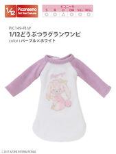 Azone Picconeemo Outfits Animal Raglan Dress Purple x White 1/12 muñecas de moda