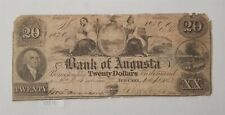 West Point Coins ~ Bank of Augusta $20 1 September 1858 Georgia