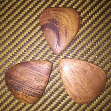 3 hawaiian hand made koa wood guitar picks plectrums by SUPERANTONIO