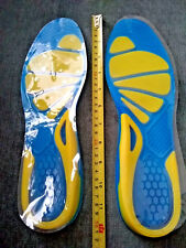 Mens Silicone Insoles Pads Cushions Comfort Shoe Gel Heel Arch Support foot-care