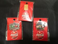2002 FIFA WORLD CUP JAPAN COCA COLA PIN BADGE 3 PINS