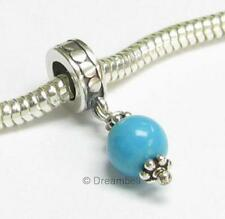1x Sterling Silver TURQUOISE dangle European Bead Charm