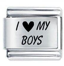 I LOVE MY BOYS * Daisy Charms Fits Nomination Classic Italian Charm Bracelet