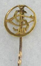 Token Stickpin Letter Initial S Victorian Antique 24K Gold Coin Love