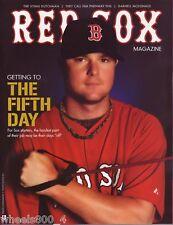 2011 Boston Red Sox Magazine Program 4th Edition Lester