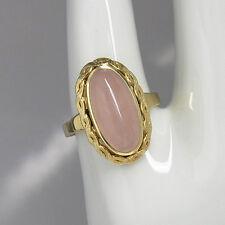 Ring mit einem Rosenquarz in 585/14K Gelbgold