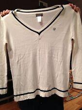 Shi Golf V Neck White Sweater L(2) xs(2) s(2)m(2) xl(2)