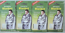 4PK EMERGENCY BLANKETS ALUMINIZED POLYESTER THERMAL REFLECTIVE THICKER THAN MOST