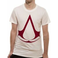 Assassin's Creed - Classic Logo T Shirt in White - NEW & OFFICIAL