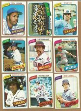 1980 TOPPS BASEBALL CARDS YOU U-PICK ANY 10 PICKS EX, EM, NM COMPLETE YOUR SET