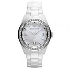 NEW EMPORIO ARMANI AR1426 LADIES CERAMIC WATCH - 2 YEAR WARRANTY - CERTIFICATE