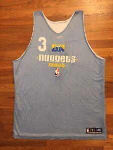 2006-07 Denver Nuggets Allen Iverson Reversible Practice Game Jersey size 2XL